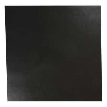 E. JAMES 3/32' Comm. Grade Neoprene Rubber Sheet, 12'x12', Black, 40A, 6040-3/32A
