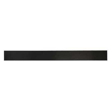 E. JAMES 3/16' Comm. Grade Neoprene Rubber Strip, 2'x36', Black, 40A, 6040-3/16X