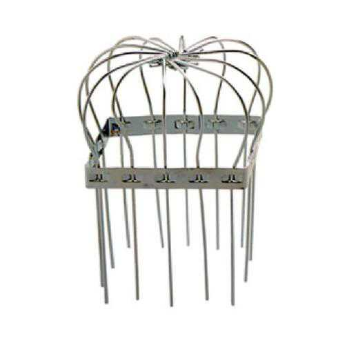 Peak Products America 1640 Gutter Downspout Strainer Basket, Square, Galvanized, 3-In.