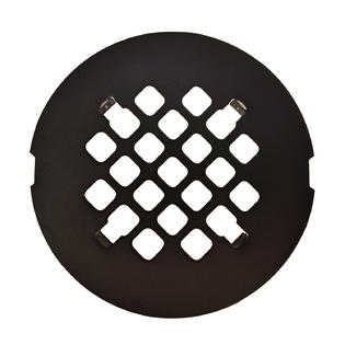 Oil Rubbed Bronze Round Shower Drain Grate 4 1/4' Replacement Cover - No Tools Required