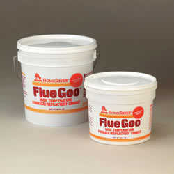 Homesaver Flue Goo Furnace/Refractory Cement Pre-Mixed 1/2 Gal. -Black