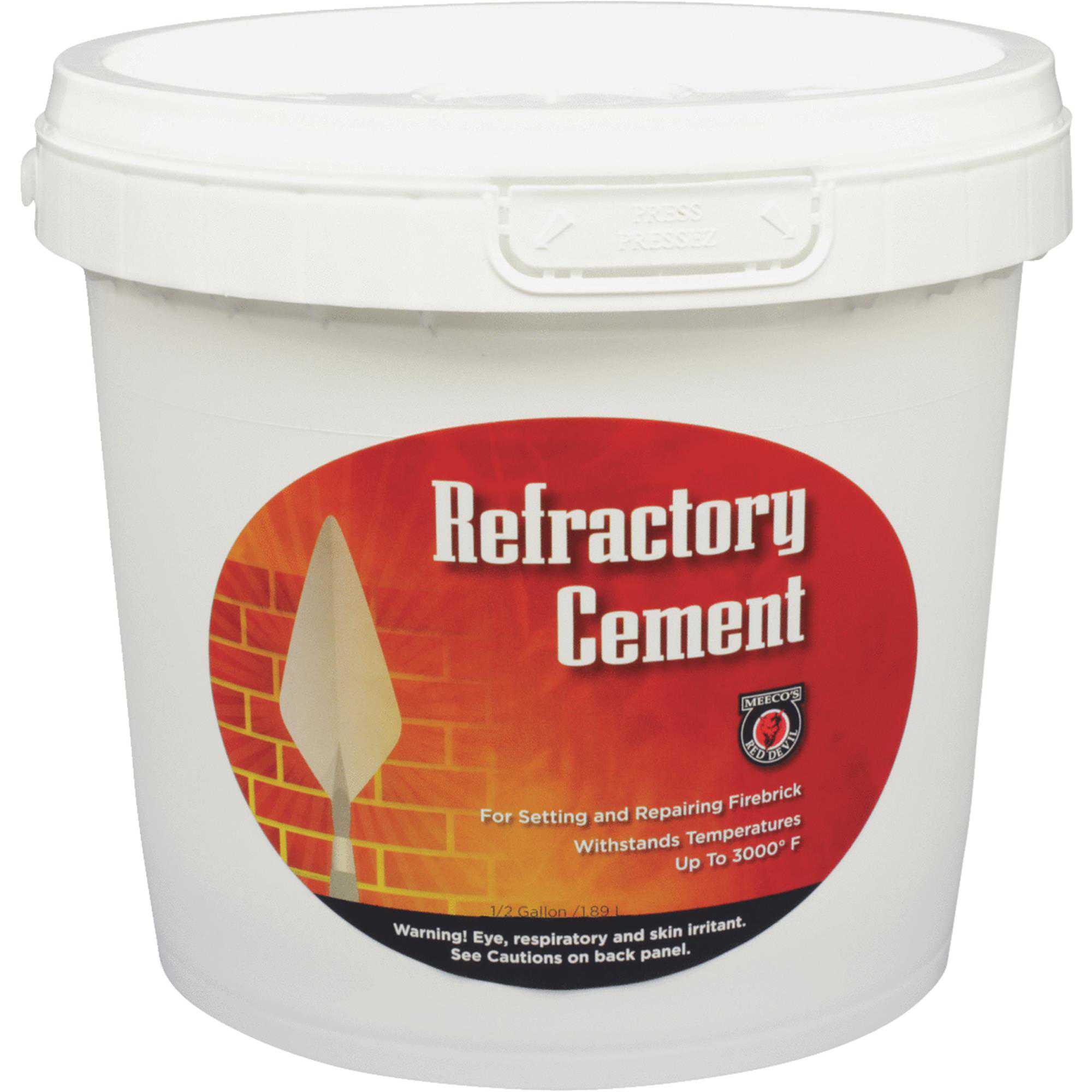 Meeco's Red Devil Refractory Furnace Cement