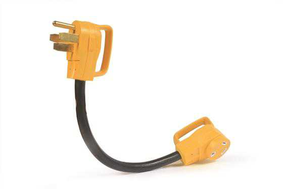 Camco RV 18' PowerGrip Dog-Bone Electrical Adapter