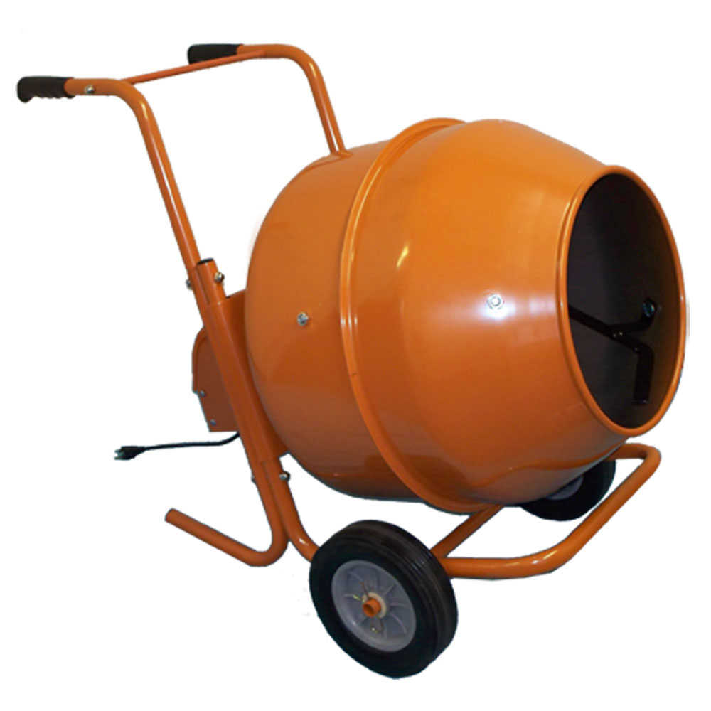 8 Cubic Ft. Wheel Barrow Portable Cement Mixer Concrete Mixer