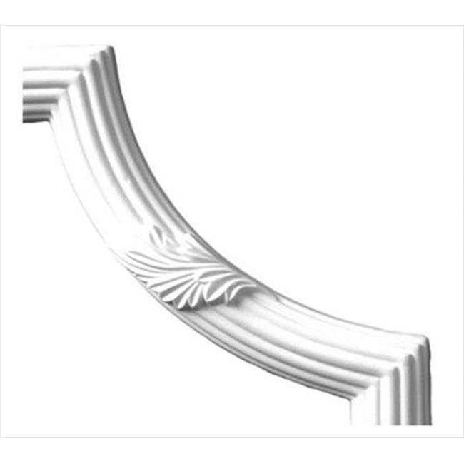 American Pro Decor 5APD10149 8.87 x 8.87 in. Corner For Acanthus And Reed Panel Moulding