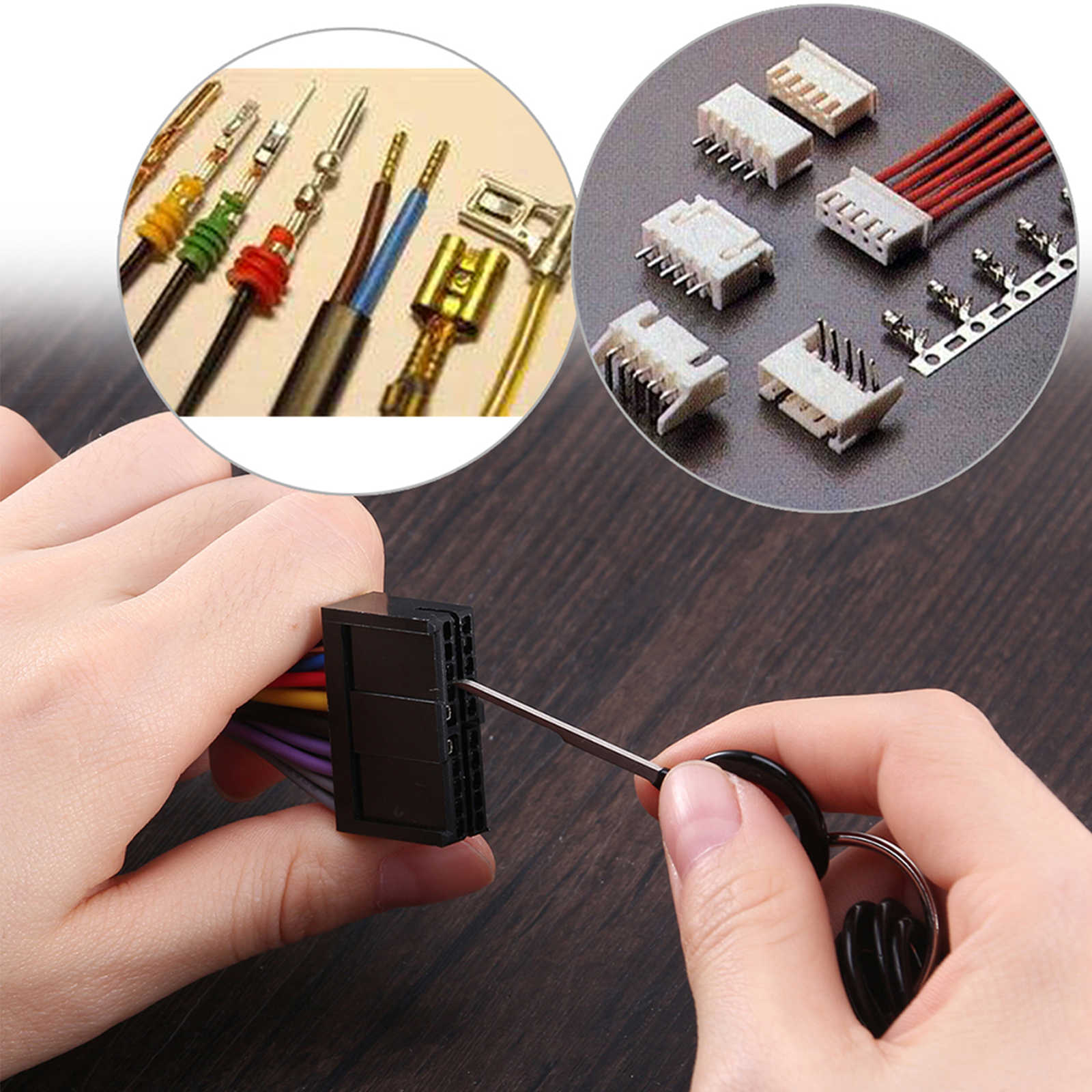 11-pack Auto Car Plug Circuit Board Wire Harness Terminal Extraction Pick Connector Crimp Pin Back Needle Remove Tool Set / Kit