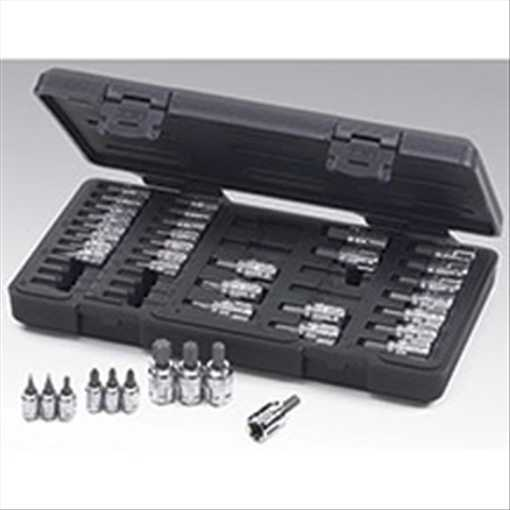 "GearWrench 890040 39 pc. 1/4"" and 3/8"" Dr. GearWrench Hex/TORX/Phillips/Slotted Bit Socket Set"