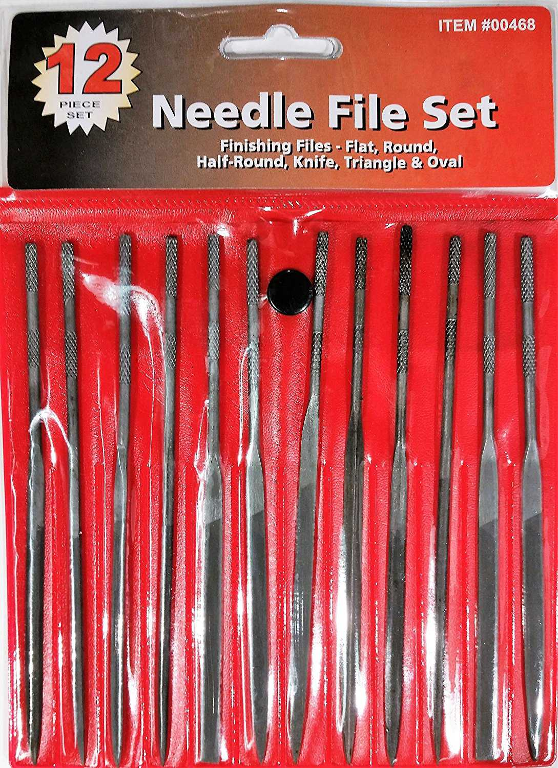Central Forge 468 Needle File Set, 12 Piece