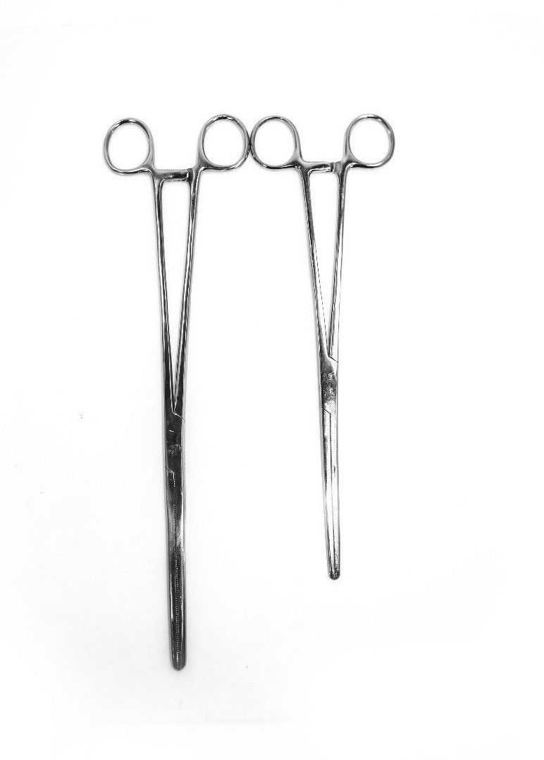 New 2pc Fishing Set 7' + 8' Straight Hemostat Forceps Locking Clamps Stainless