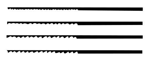 School Specialty Antilope Finest Quality Hard Temper Saw Blade Set, Size 00, 5-1/8 in L, Set of 12