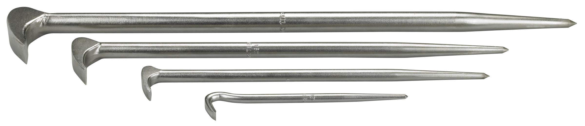 4 Piece Rolling Head Pry Bar Kit
