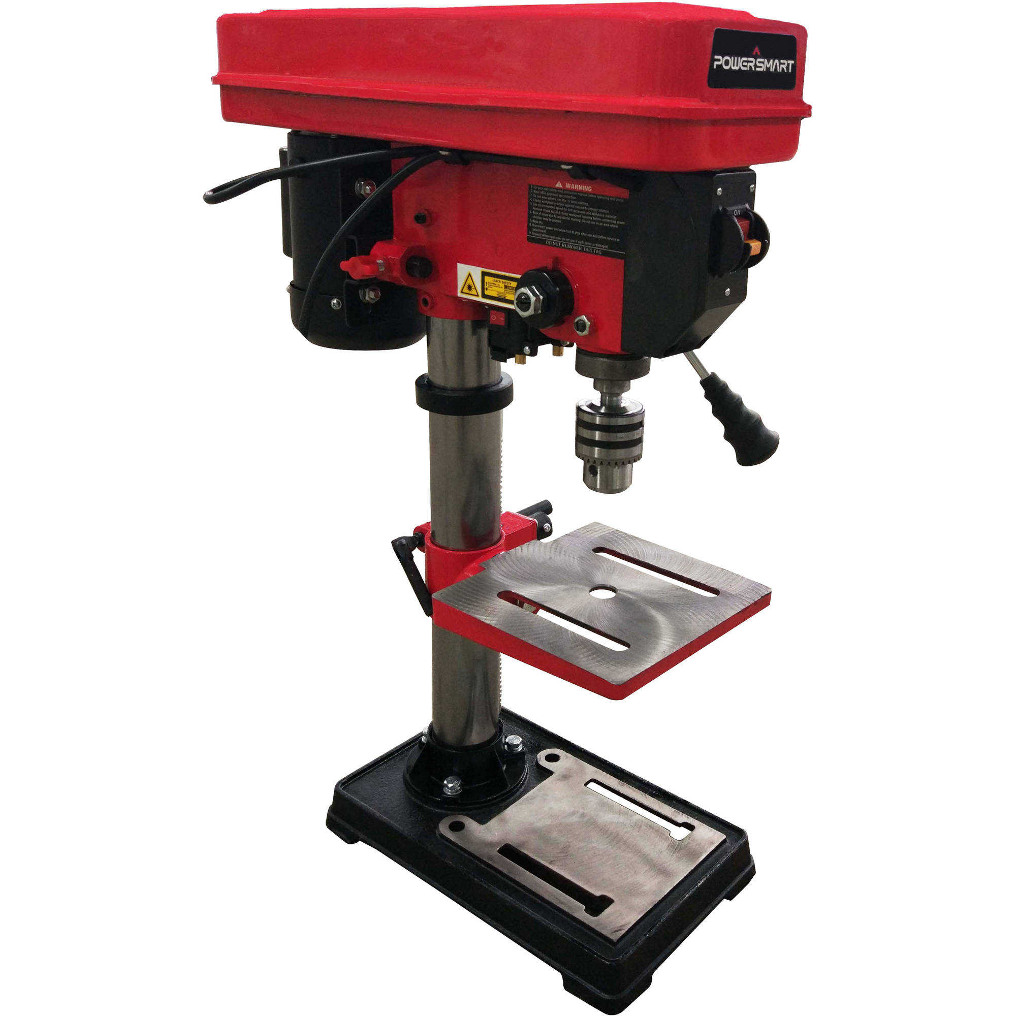 PowerSmart PS310 10' 12 Speed Drill Press with Laser Guide
