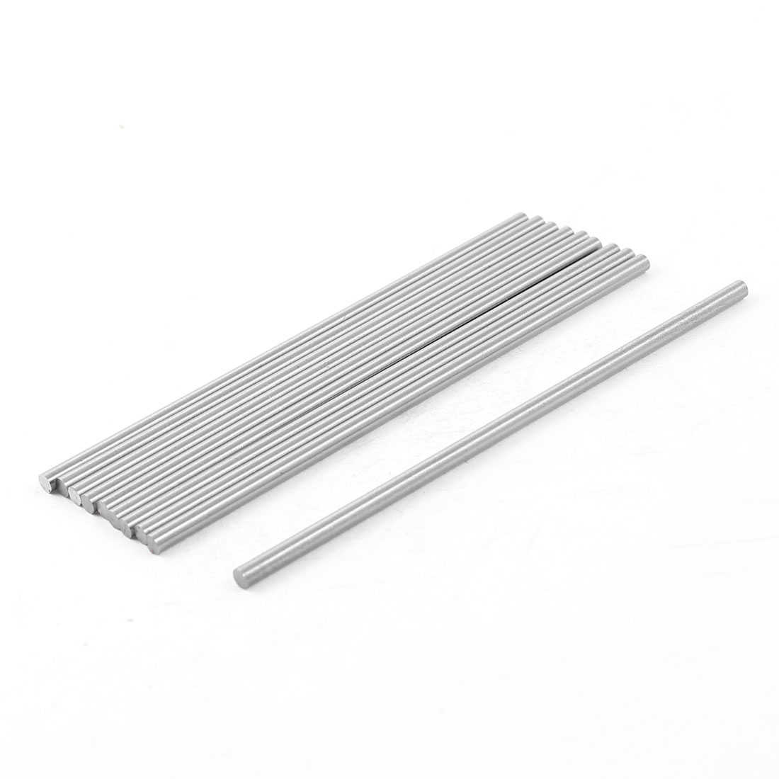 Unique Bargains 10x 3mm x 100mm HSS Grooving Tool Round Turning Lathe Bars Silver Gray