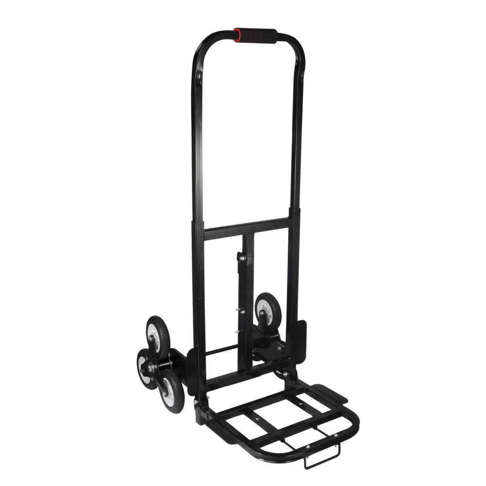 Stair Climber Hand Truck,Stair Climber Hand Truck, Solid Rubber Tires 440LBS Barrow Hand Truck Bracket Roll Cart Trolley,BlackSolid Rubber Tires 440LBS Barrow Hand Truck Bracket Roll Cart Trolley