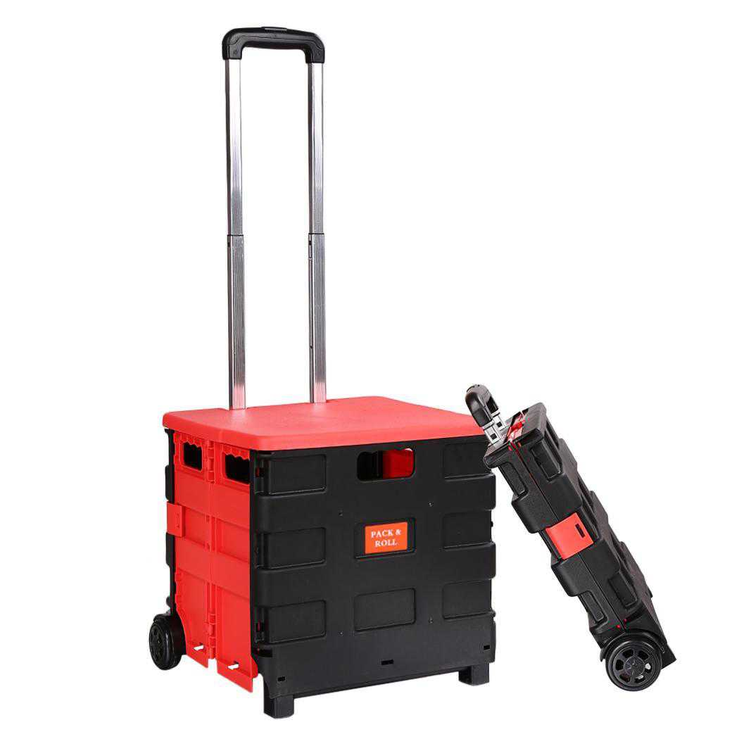 Hand Trucks Hand Carts Collapsible Utility Hand Cart With Two Wheels Folding Hand Truck Cart HPPY