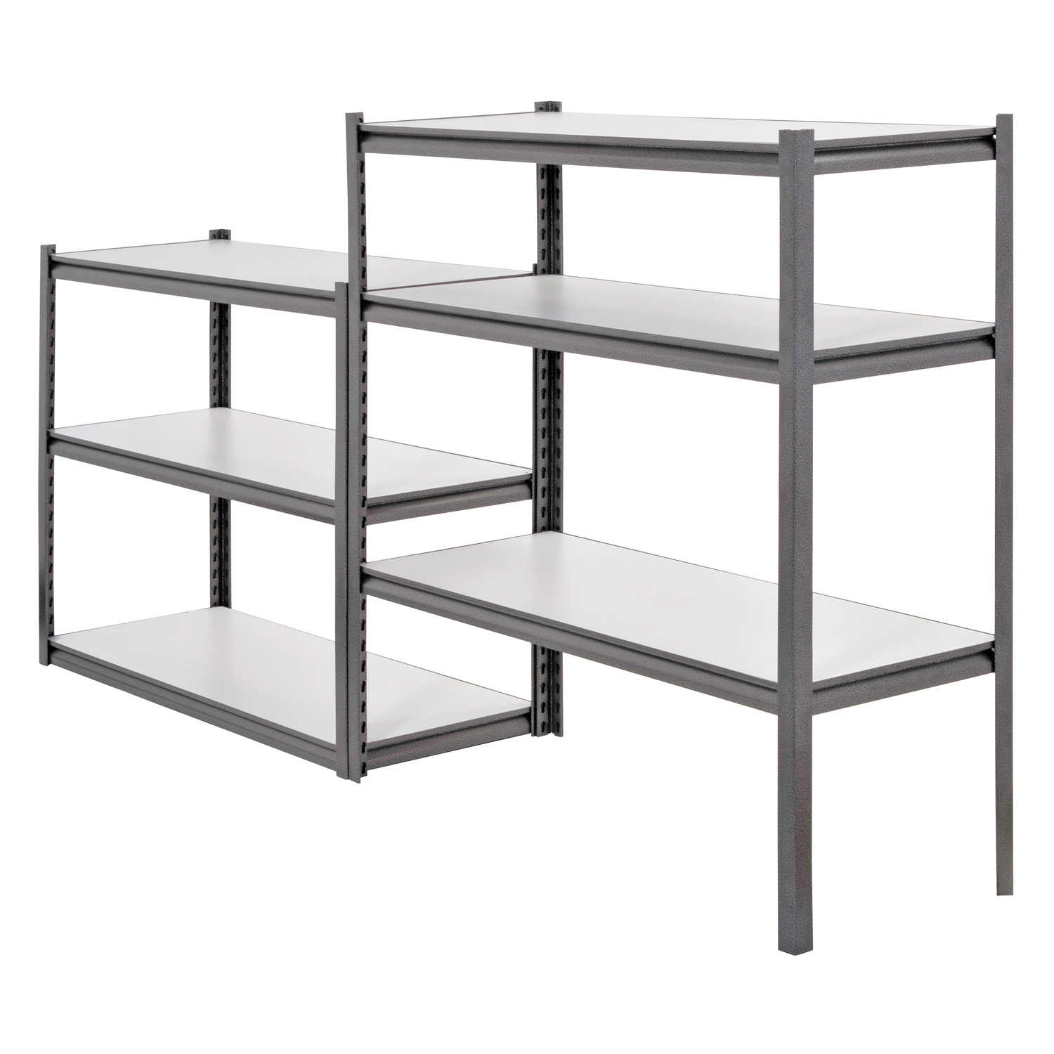 6-Shelf 48'W x 84'H x 18'D Steel Storage Shelving Unit, Silver Vein