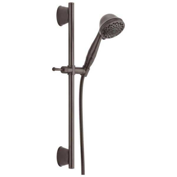 Delta Universal Showering 7-Setting Slide Bar Hand Shower 51589-RB Venetian Bronze