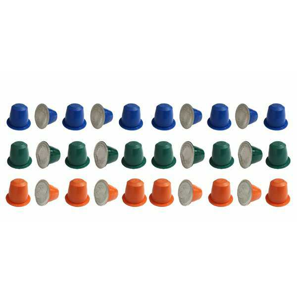 30pk Coffee Capsules, Fits Most Nespresso Machines, Includes The Morning Grind, The Afternoon Hustle & The Closer Blends