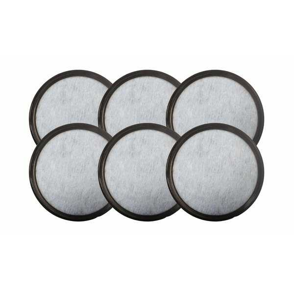 6pk Replacement Charcoal Water Filters, Fits Mr. Coffee WFF-3 Machines, Compatible with Part 113035-001-000